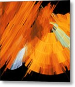 Tutu Stage Left Abstract Orange Metal Print by Andee Design