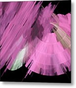 Tutu Stage Left Abstract Pink Metal Print