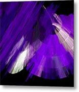 Tutu Stage Left Abstract Purple Metal Print