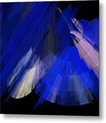 Tutu Stage Left Blue Abstract Metal Print