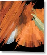 Tutu Stage Left Peach Abstract Metal Print