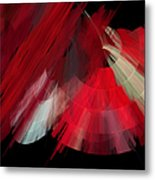 Tutu Stage Left Red Abstract Metal Print