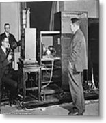 Tv Demonstration At Bell Labs Metal Print