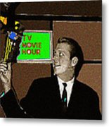 Tv Movie Hour Jake Crellin Kvoa Tv 1962 Sepia Toned Color Drawing Added 2009 Metal Print