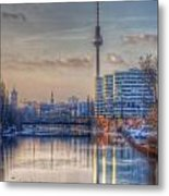Tv Tower Sunset Metal Print