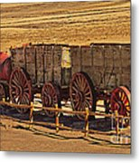 Twenty-mule Team In Sepia Metal Print