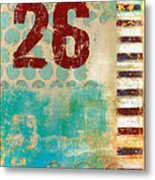 Twenty-six Stripes Metal Print