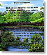 Twenty-third Psalm And Twin Ponds Metal Print