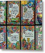 Twenty Third Psalm Collage 2 Metal Print