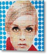 Twiggy Blue Dot  Metal Print by Grant  Swinney