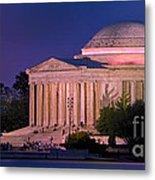 Twilight At The Jefferson Memorial Metal Print