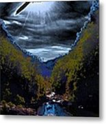 Twilight Canyon Eclipse Metal Print