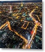 Twilight City View Of Paris Metal Print