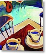 Twilight Coffee Cafe Metal Print
