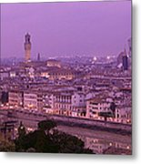 Twilight, Florence, Italy Metal Print