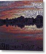 Twilight In Pasco Metal Print