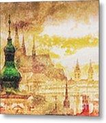 Twilight In Praha Metal Print