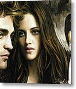 Twilight  Kristen Stewart And Robert Pattinson Artwork 1 Metal Print