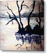 Twilight Lake Sunset Metal Print