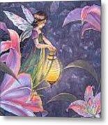 Twilight Lilies Metal Print