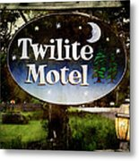 Twilight Motel Metal Print