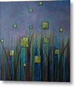 Twilight N Fireflies Metal Print