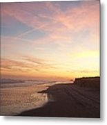 Twilight Near Pier Metal Print
