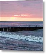 Twilight On A Beach Metal Print