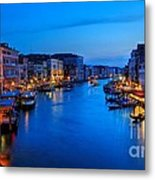 Twilight On The Grand Canal Metal Print