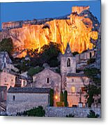 Twilight Over Les Baux Metal Print