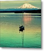 Twilight Sail Metal Print