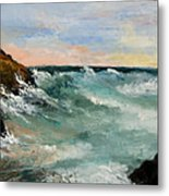 Twilight Surf Metal Print