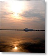Twilight View Of Dal Lake- Kashmir- India- Viator's Agonism Metal Print