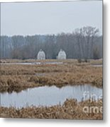 Twin Barns Metal Print