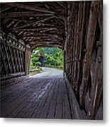 Twin Covered Bridges North Hartland Vermont Metal Print