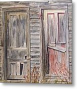 Twin Doors Metal Print