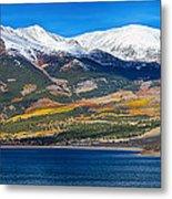 Twin Lakes Colorado Autumn Panorama Metal Print