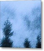 Twin Lakes Rain Metal Print