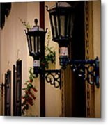 Building Cityscape Twin Lamps Metal Print