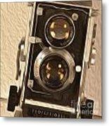 Twin Lens Reflex Redux Metal Print