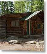 Twin No. 2 Cabin At The Holzwarth Historic Site Metal Print