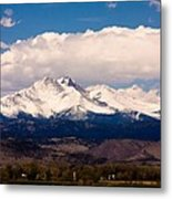 Twin Peaks Snow Covered Metal Print