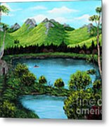 Twin Ponds Metal Print