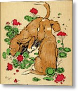 Twin Puppies, Snip And Snap,  Bury Metal Print