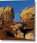 Twin Rocks Capitol Reef National Park Utah Metal Print