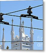 Twin Spires And Trolley Lines Metal Print