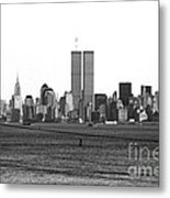 Twin Towers From Staten Island Metal Print