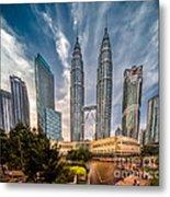 Twin Towers Kl Metal Print by Adrian Evans