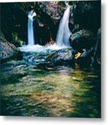 Twin Waterfall Metal Print