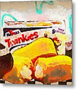 Twinkies Cupcakes Ding Dongs Gone Forever Metal Print